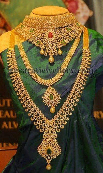 Jewellery Designs: Diamond Sets by PMJ Jewels