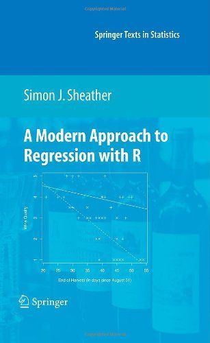 A Modern Approach to Regression with R (Springer Texts in Statistics) by Simon Sheather. $68.62. 407 pages. Edition - 1. Publication: March 11, 2009. Publisher: Springer; 1 edition (March 11, 2009)