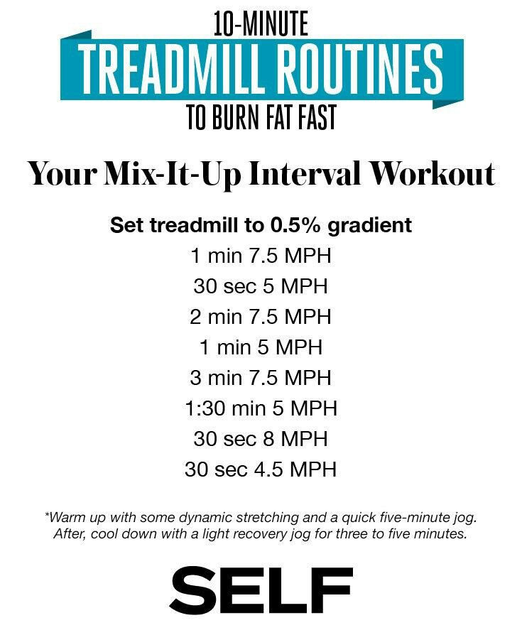 10 minute treadmill .5% incline