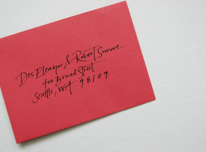 Addressing your holiday envelopes- a how to.