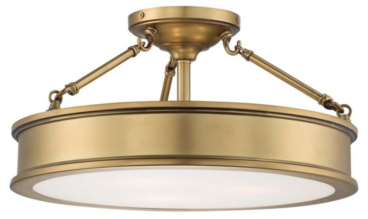 Daria 3-Light Semi-Flush Mount, Gold - Ceiling Lights & Fans - Indoor and Outdoor Lighting - Lighting | One Kings Lane
