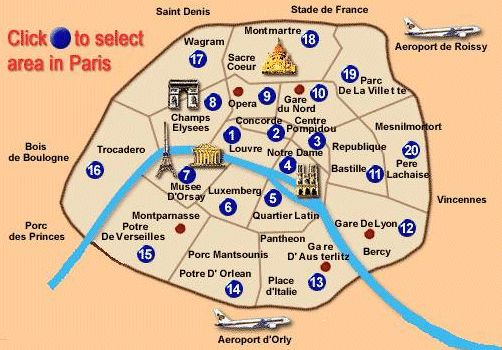 17 best images about paris map on pinterest shopping in for Paris hotel map