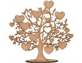 Árvore Decorativa para Festa em MDF 6mm Corações