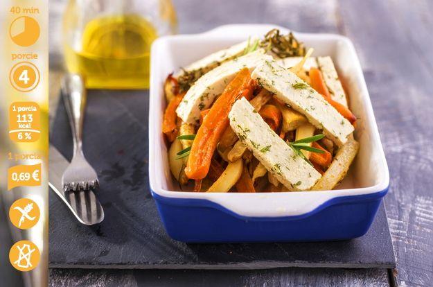 Zapekaná zelenina je pochúťka, ktorú neodmietnu aj skalní fanúšikovia mäsa. Tofu v recepte zabezpečí prísun zdravých bielkovín. Pri recepte nájdete energetickú hodnotu a cenu jednej porcie. To vám postráži nielen vašu líniu ale aj peňaženku.