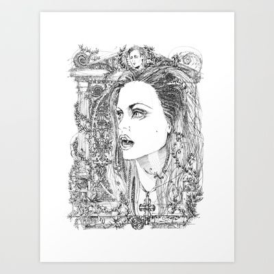 vampire Pam Art Print by Francesco Carli - $14.56
