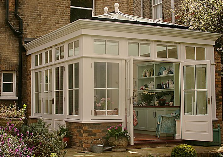 033 Traditional style Orangery on Victorian house in Putney, SW London