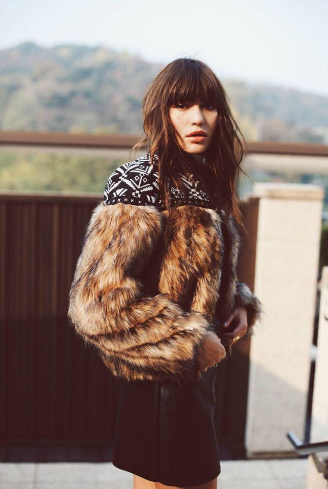 THE TERRACE--- love this faux fur