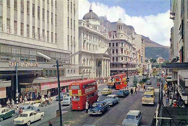Old school Adderley Street, Cape Town - South Africa