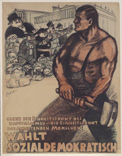 W%c3%a4hlt+Sozialdemokratisch+(Vote+Social+Democratic)%2c+Mih%c3%a1ly+Bir%c3%b3%2c+Vienna%2c+1919-1920