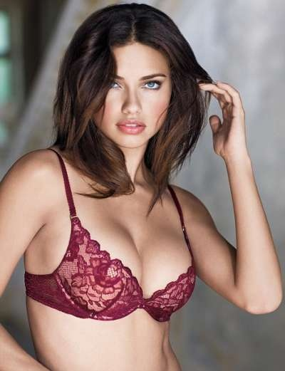 adriana lima in red bra