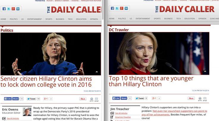 #NotBuyingIt: Daily Caller mocks Hillary Clinton's age in two posts.. we're #NotBuyingIt