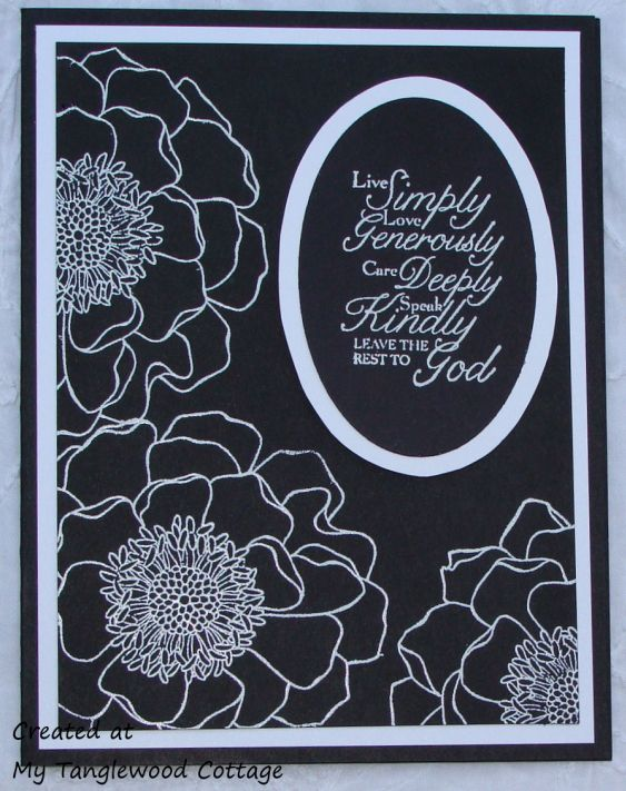 embossed in white on black - sure catches your eye