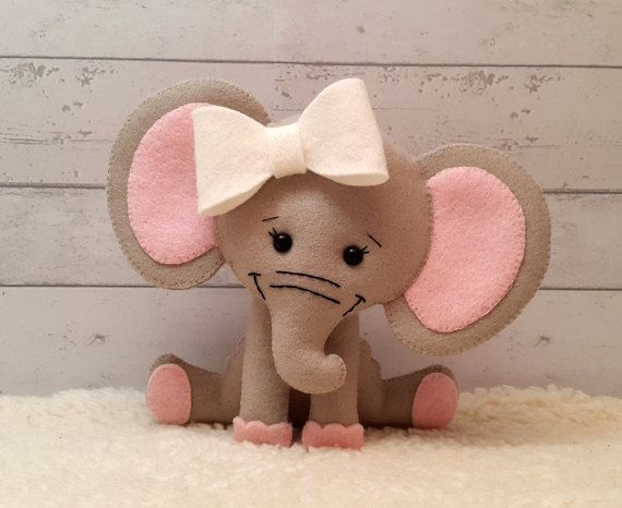 Felt Pattern Olivia the Elephant softie pattern by SuperSkattig