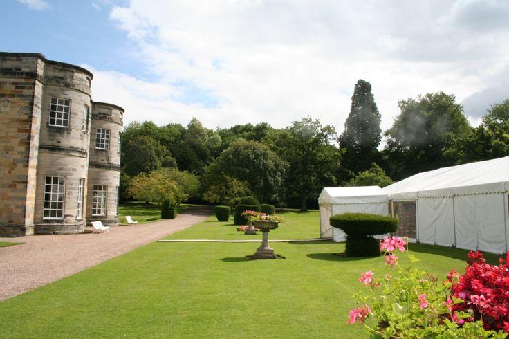 newburgh priory south garden wedding