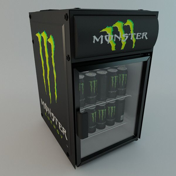Monster Energy Drink Fridge - ClutchFans ❤ liked on Polyvore