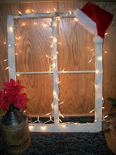 old windows hristmas | old window idea for Christmas | CRAFTY THINGS