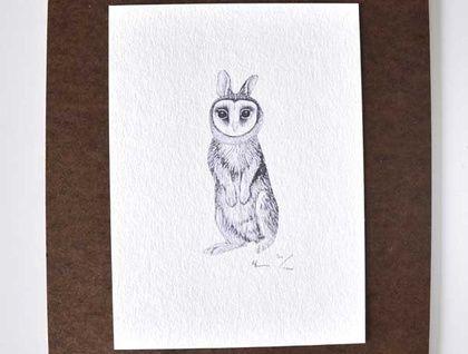 Birdinabunnysuit No.4. Small print. (A5 size)