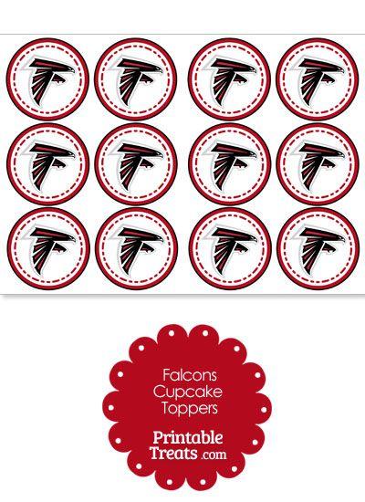 Printable Falcons Logo Cupcake Toppers from PrintableTreats.com