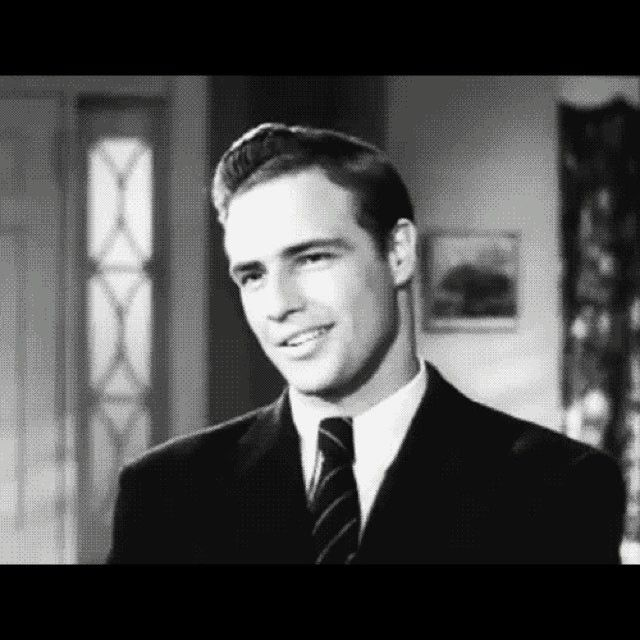Marlon Brando in a 1947 screen test for Rebel without a Cause.