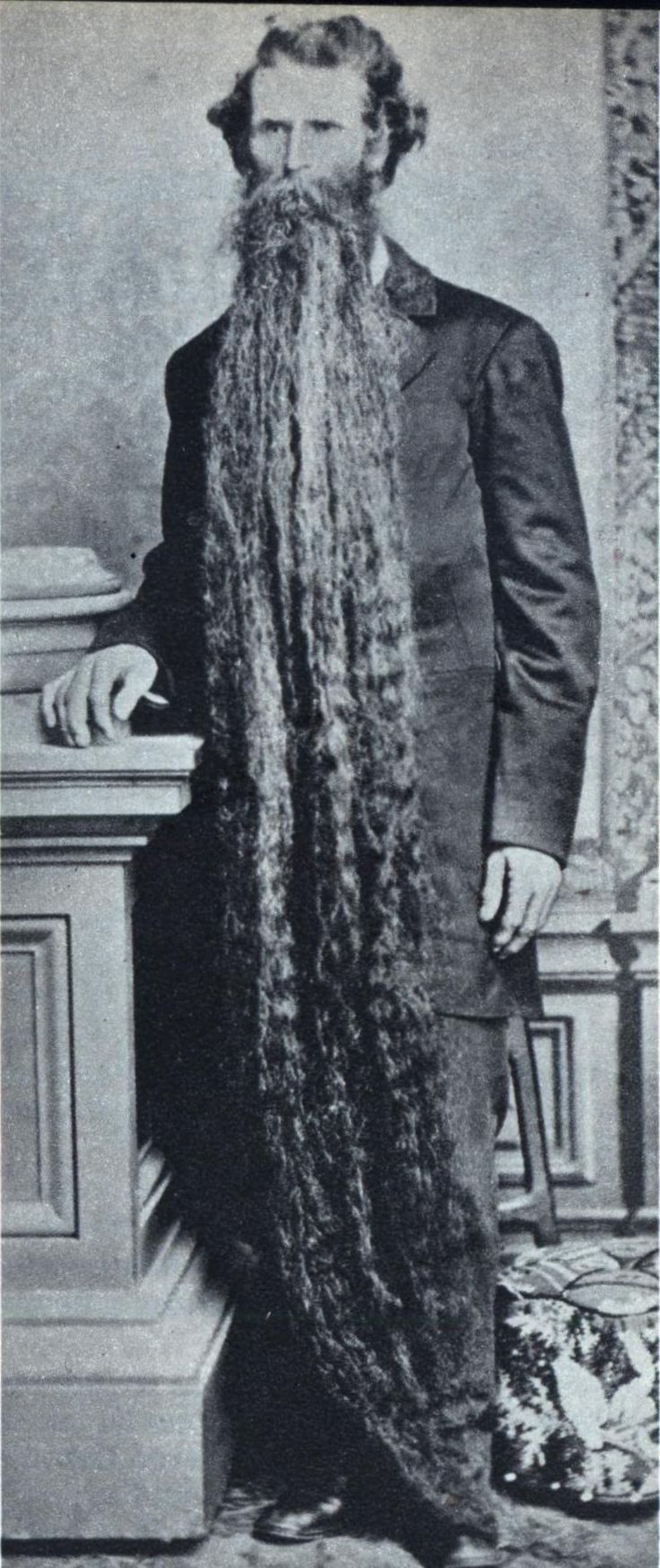 """4.16 Friday 13th 1902: Uncle Jeb's beard - his pride and glory -  ultimately was his undoing when he tripped over it and fell down the stairs, sadly ending his, and its, 12 year reign as """"Champion Beard of Illinois""""."""