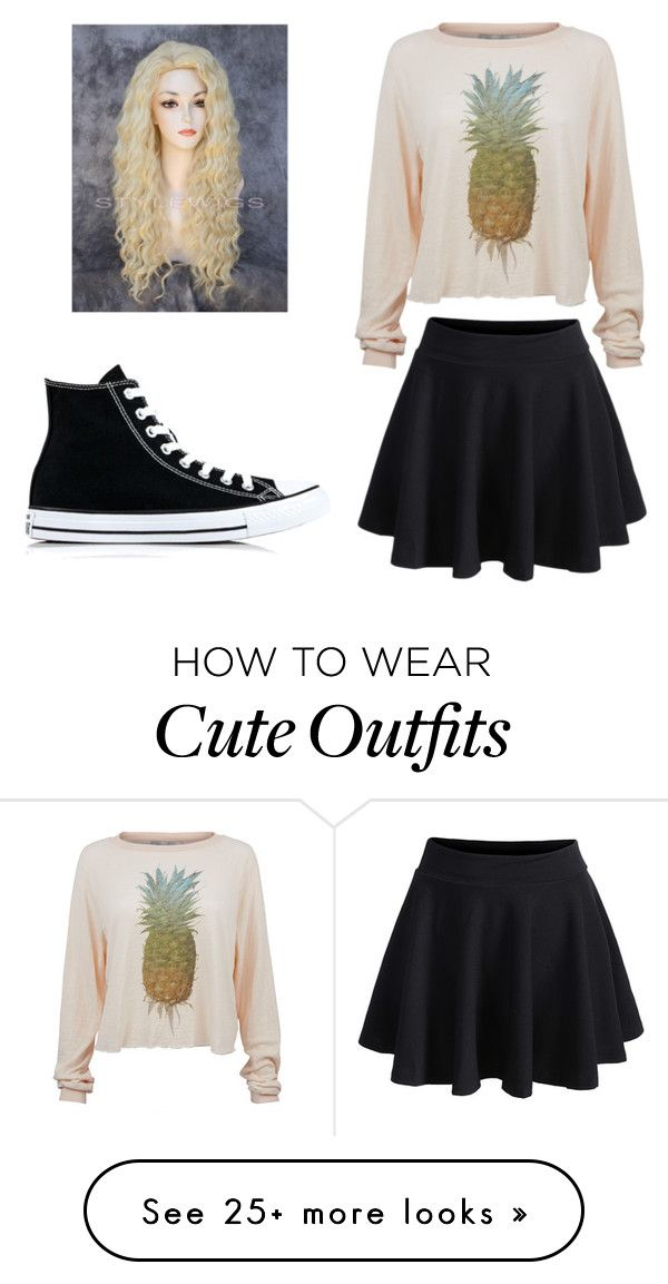 """Cute outfit for going out with friends"" by applemeowkitty on Polyvore featuring Wildfox, WithChic and Converse"