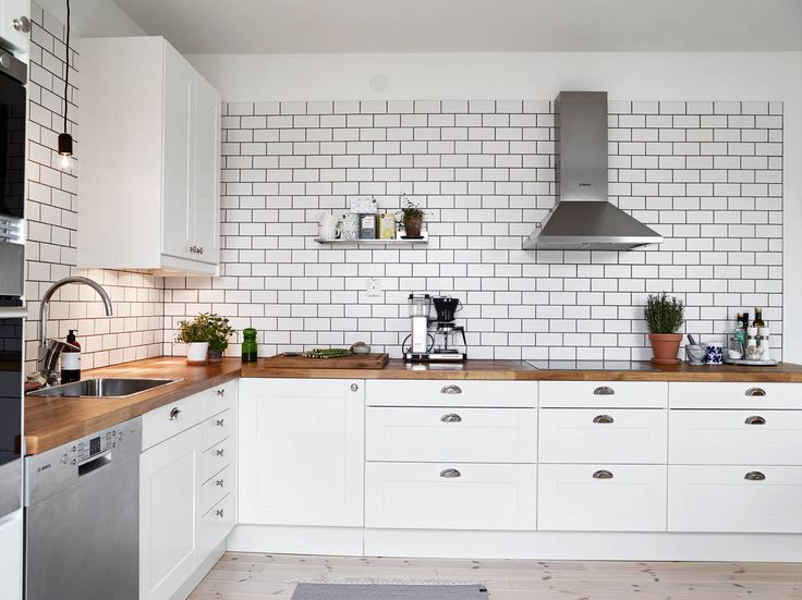 25 great ideas about white tiles black grout on pinterest - White brick tiles black grout ...
