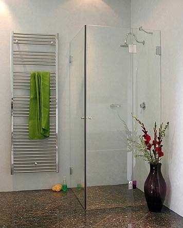 BiS, Bündige Eck-Duschkabine, 2 Türen, Klarglas, Chrom, H=195cm