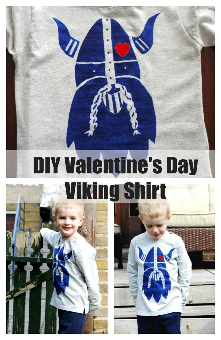 Viking Valentines Shirt and Stencil