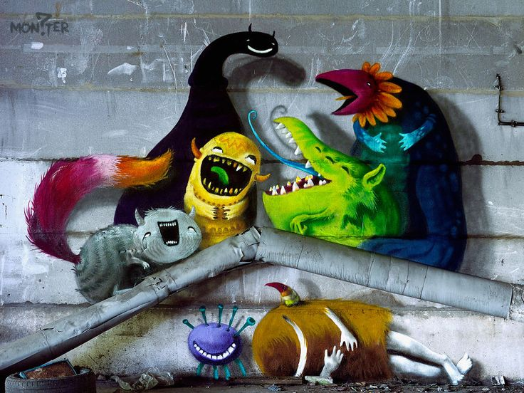 Monzter: Artist Hides Monster Murals Inside Abandoned Buildings In Berlin | Bored Panda