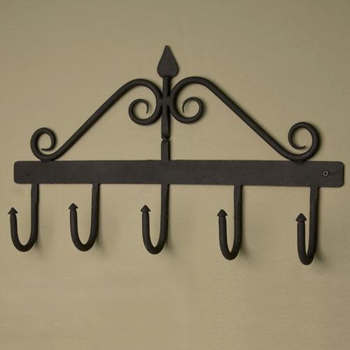 Hand-Forged Iron Coat Rack