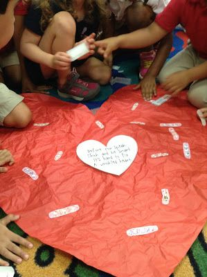 """""""It's hard to fix a wrinkled heart"""" beginning of the year lesson about bullying **Chrysanthemum**"""