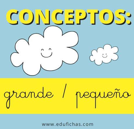 Aprender conceptos grande y pequeño. Fichas infantiles gratis para imprimir.   http://www.edufichas.com/actividades/conceptos/cualitativos/conceptos-grande-pequeno/  #fichas #infantil #gratis #worksheets #kids #activities