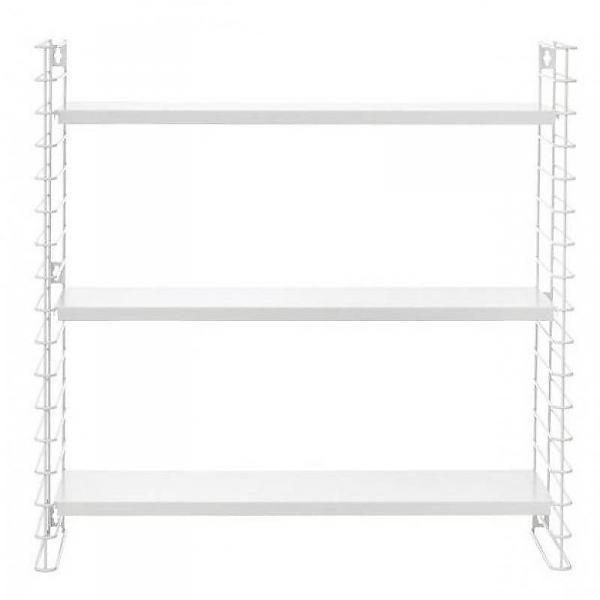 METALTEX TOMADO String Boekenrek - Zwart of Wit Schlafzimmer - wohnzimmer weiße möbel