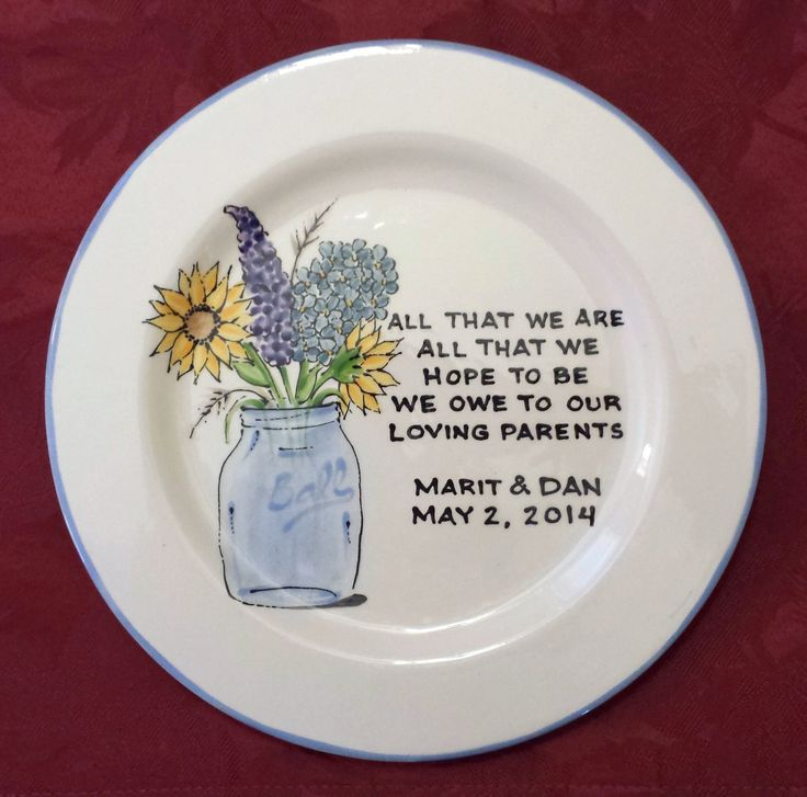 Wedding Gift For Parents Plate Floral Oval Thank You Mom And Top Best Gifts