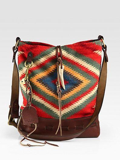Ralph Lauren Collection Serape Shoulder Bag