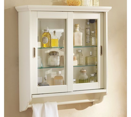 Wall Cabinet Pottery Barn: Sliding Door Wall Cabinet