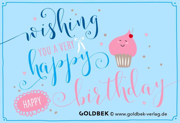 Postkarten - Happy Birthday.