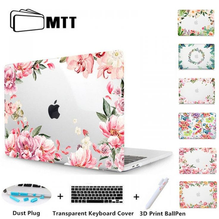 MTT Floral Laptop Case For Macbook Air Pro 11 12 13 15 Retina for Apple Mac book Cover 13.3 inch Touch Bar Flowers Laptop Sleeve