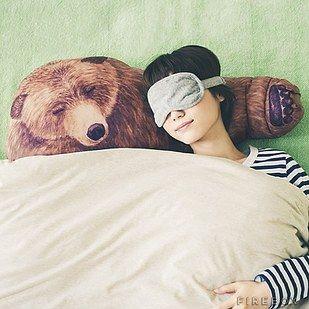 A ridiculously cuddly bear hug pillow.