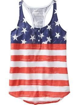 This is a piece I actually owned before I saw it on Pinterest. I feel so special. Old Navy flag tank