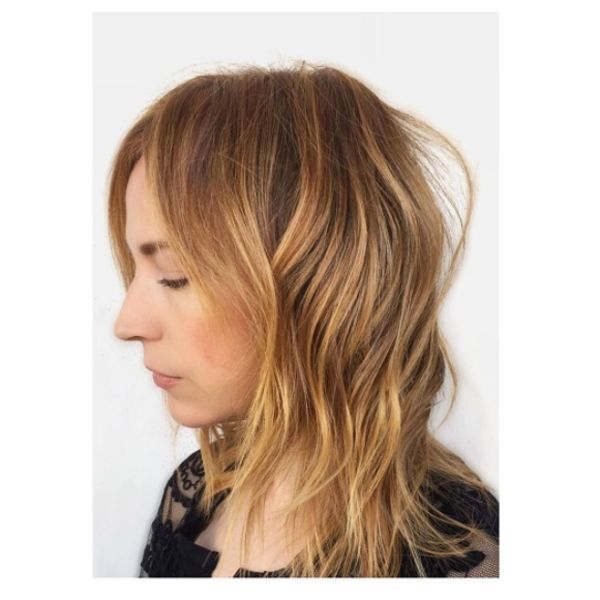 Meanwhile, Tracey Cunningham went even more golden with this rendition — a deliberately brassy color that is as soft as it is striking.  #refinery29 http://www.refinery29.com/new-hair-color-trends#slide-4