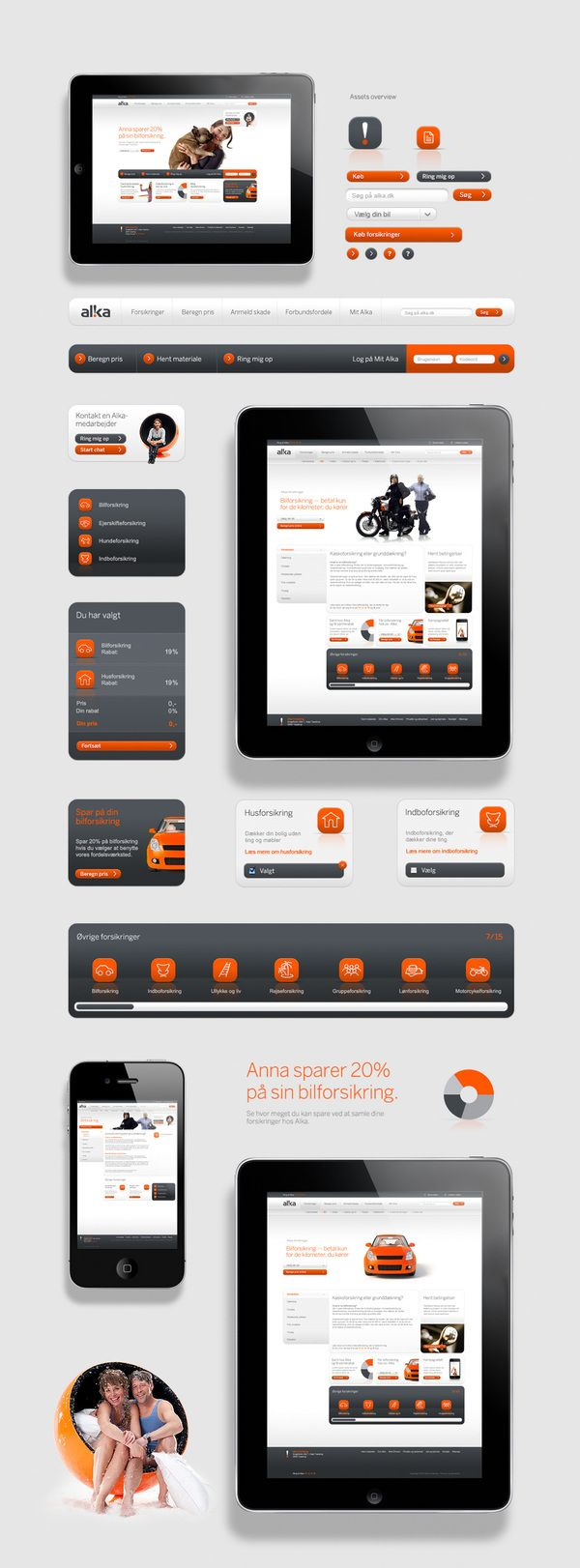 Clean IPad and iPhone Design