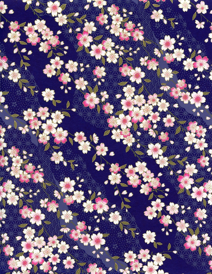 Pretty Cherry Blossoms Pattern.