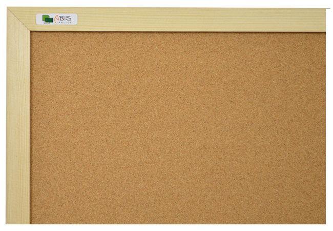 Kurk prikbord 100x200 cm. met houten lijst