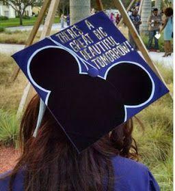 Holidays, Homeschool & Home: Disney Graduation Caps! Graduation cap idea, disney, cap ideas, high school # graduation #cap # ideas DIY, college, bow, flea