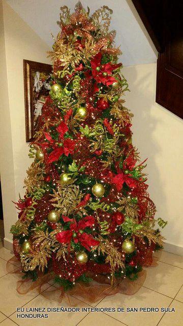 Las 25 mejores ideas sobre decoraciones para rboles de - Decoracion de arboles navidenos ...
