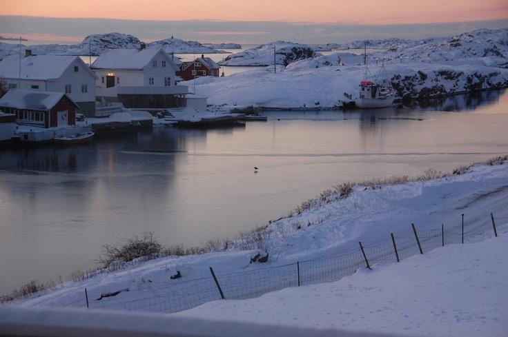 Winter evening.
