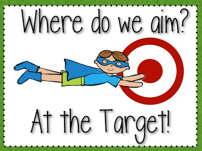 Primary Possibilities: Student Learning Objectives - free Super Hero target poster