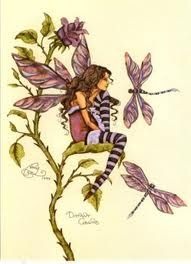 Amy Brown Fairy with Dragonflies