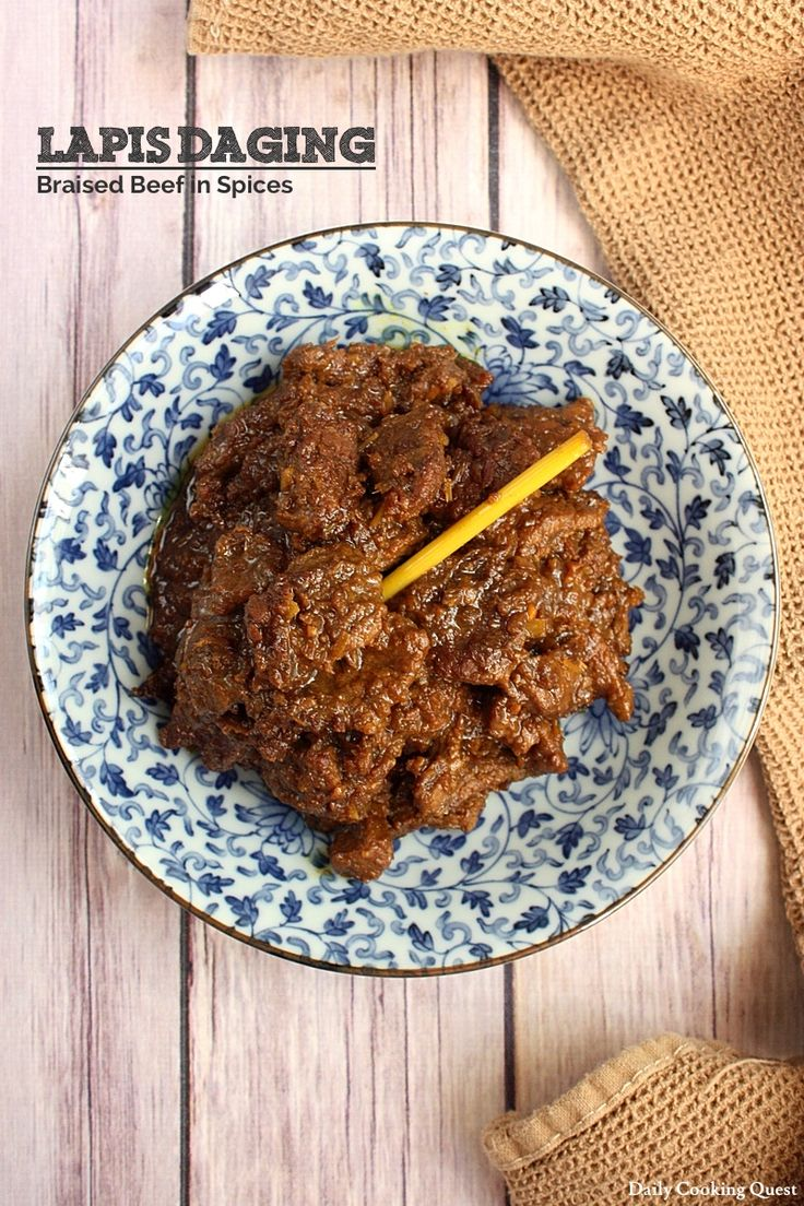Lapis Daging - Braised Beef in Spices
